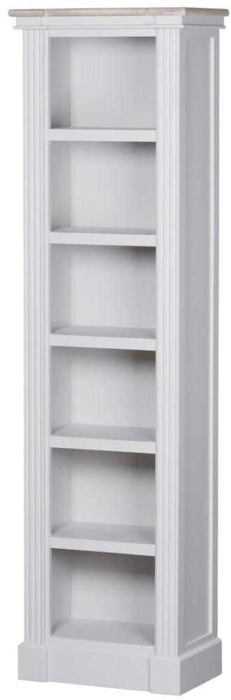 Hill Interiors Liberty White Painted Narrow Bookshelf – CFS Furniture UK