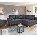Home Affaire Eck-Sofa »Rice«, grau, Inkl. loser Zier- und Rückenkissen