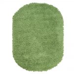 Home Decorators Collection Ultimate Shag Lime Green 5 ft. x 7 ft. Oval Area Rug-7575490620 - The Home Depot