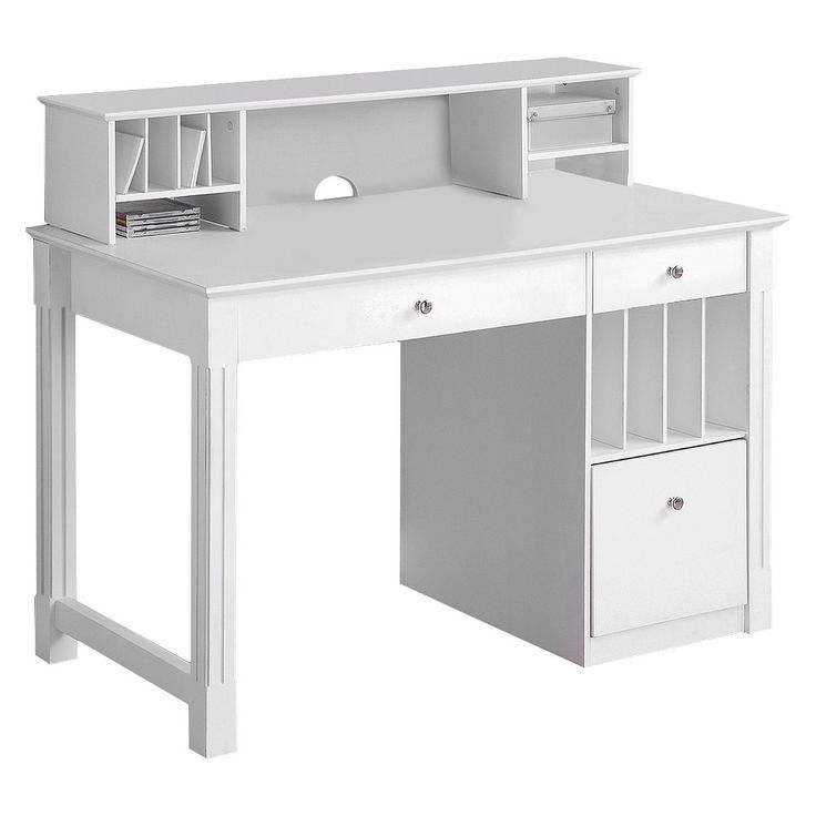 Home Office Deluxe Schreibtisch aus weißem Holz mit Stall  Saracina Home#uxdesi… – https://pickndecor.com/dekor
