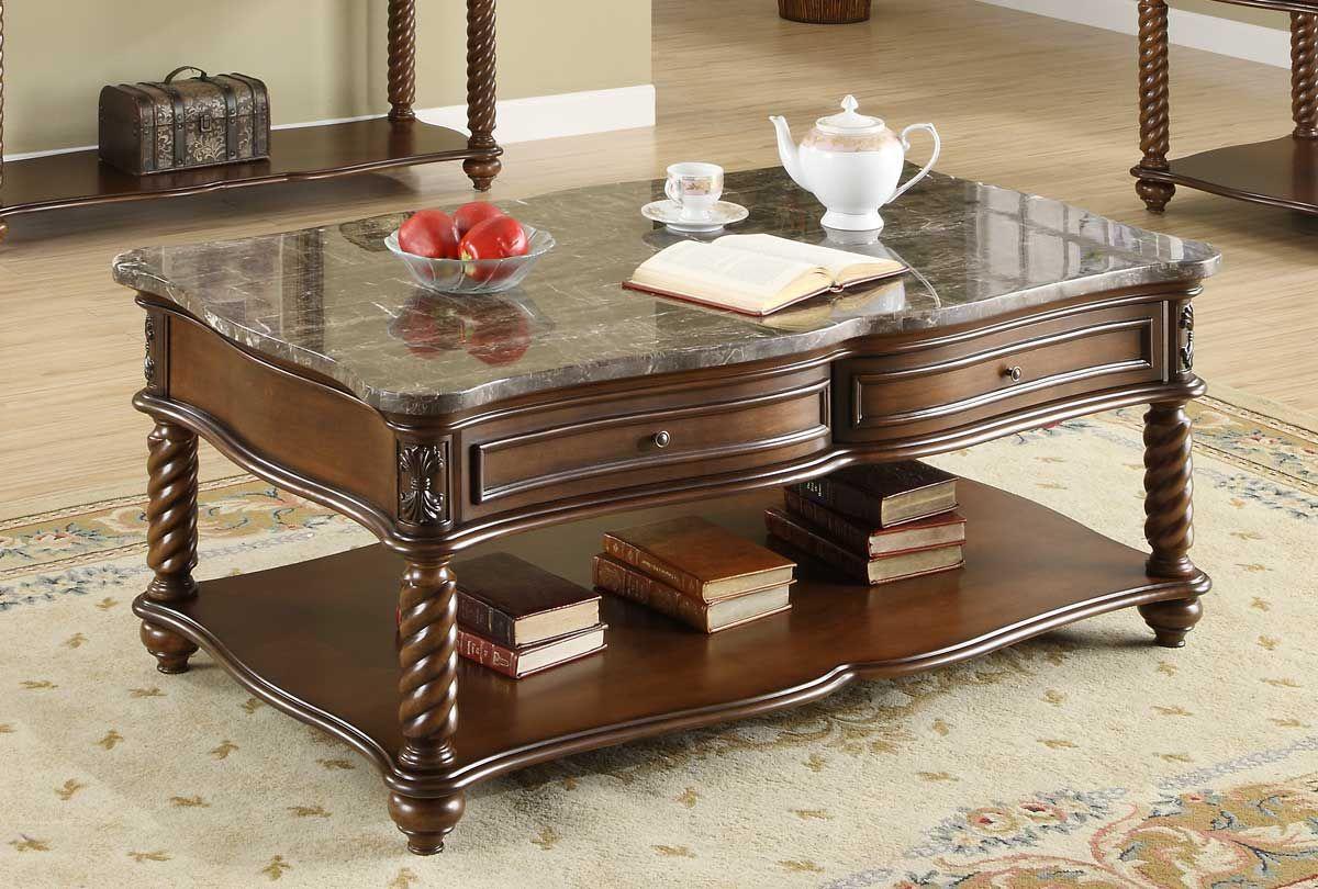 Homelegance Lockwood Cocktail Table – Brown Mahogany
