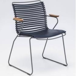 Houe Click Stuhl mit Armlehne nachtblau HoueHoue