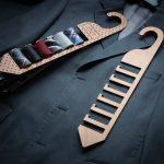 Houten stropdas Rack, aangepaste hout tie Rack, gepersonaliseerde tie Rack, aangepaste stropdas hanger, giften voor papa, Kerstcadeaus voor papa--TRACK-hout-POLKA