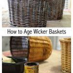 How to Age Wicker Baskets - Create and Babble