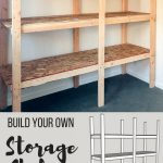How to Build Storage Shelves for Less than $75