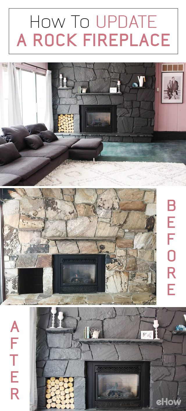 How to Update a Rock Fireplace By Using Paint | eHow.com