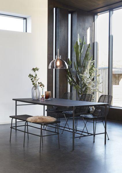 Hübsch Interior – Schwarzer Esstisch ASH   myadele