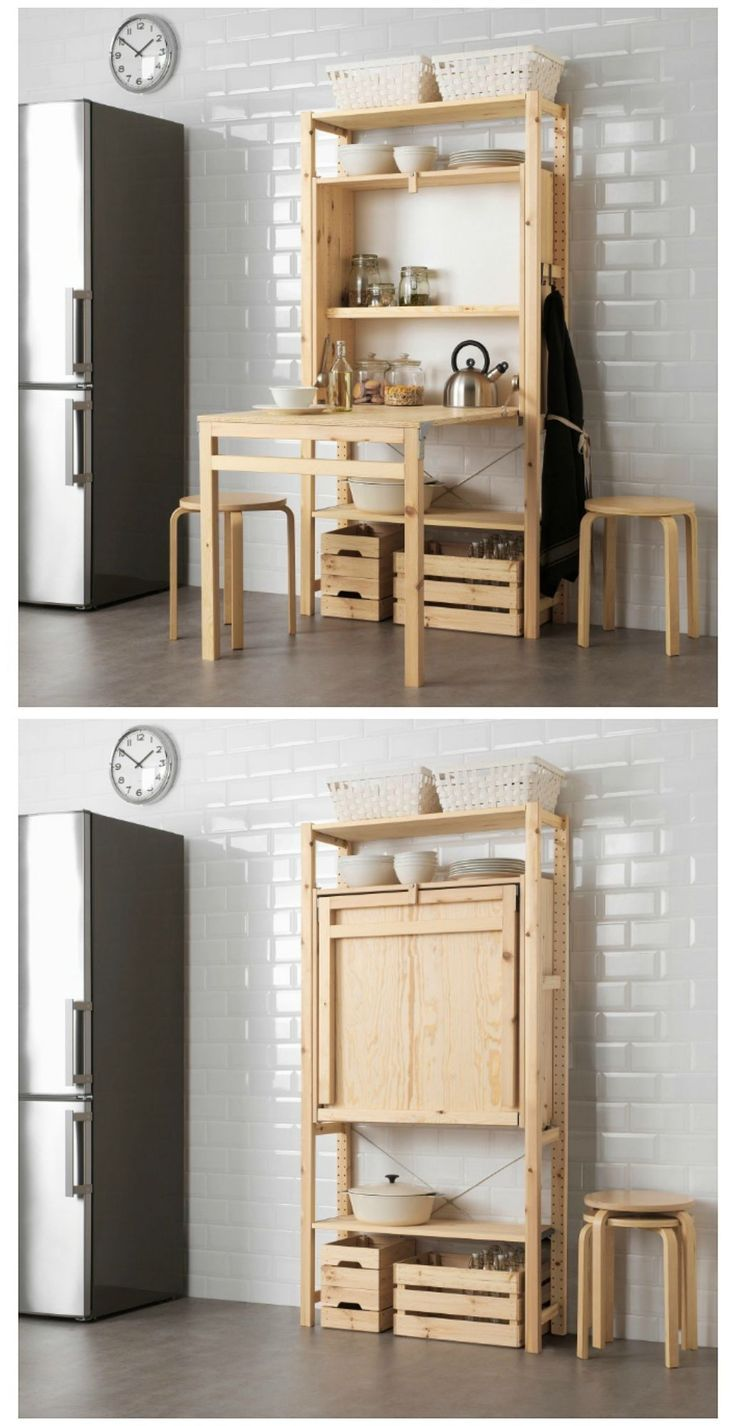 IKEA launches space-saving shelving unit with foldable table | Space Saving Furniture |  Smal…