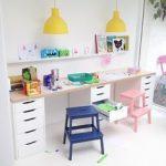 Ikea Kinderschreibtisch Hack mit süßen Pastellfarben ...