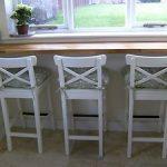 Ikea white bar stools with backrest -INGOLF x 3 NEW  | eBay