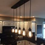 Industrial Modern Reclaimed Wood Chandelier 5 Pendant light Chandelier lighting