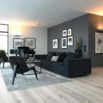 """Inspiration & Interiordesign on Instagram: """"Ein hammer Wohnzimmer liebevoll eingerichtet mit einem klaren Farbstil 👌 Die Kombination aus grauer Wand, dunkler Couch und dem hellen…"""""""