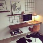 Inspiration für das Arbeitszimmer - Schreibtisch an Wand ... - Inspiration für ...