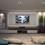 Inspirierte Wohnzimmerideen für Fernsehwände (45 #fernsehwande #inspired #w #d...