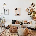 Interieur, Boho, Design, Wohnzimmer, Wohnkultur – Eine Mischung aus modernem, b… - https://pickndecor.com/dekor