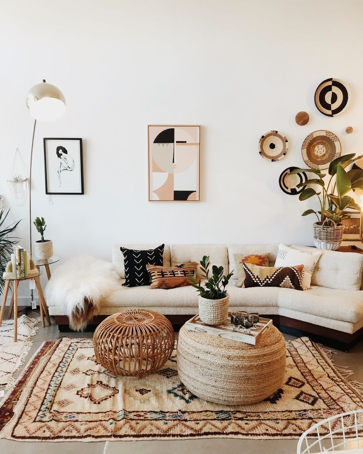Interieur, Boho, Design, Wohnzimmer, Wohnkultur – Eine Mischung aus modernem, b… – https://pickndecor.com/dekor