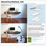 Interior Design Minimal Float Wand Schreibtisch Quick Make Over für die Massenproduktion oder...
