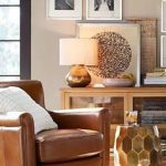 Irving Roll Arm Leather Swivel Armchair
