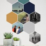 Items similar to Custom Wall Decal, Great Birthday Gift, Removable Hexagons, Personalised Photo Wall Art on Etsy