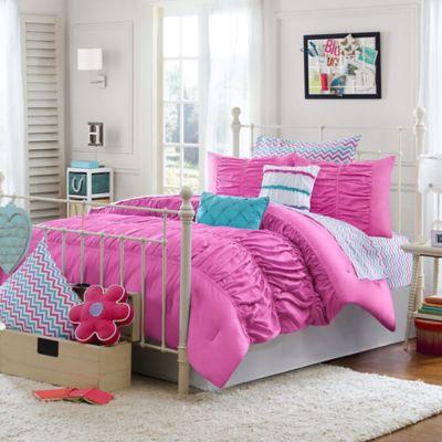 Julissa Twin/twin X 2-Piece Comforter Set In Pink