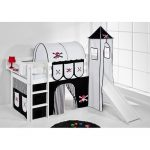 Just Kids Jelle Mid Sleeper Bed with Textil Set | Wayfair.co.uk
