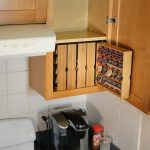 K-Cup Storage For Kitchen Cabinets, right hand opening cabinet