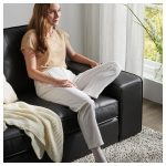 KIVIK Sofa - with chaise Grann, Bomstad Grann/Bomstad black - IKEA