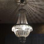 KRONLEUCHTER KRISTALL 75cm HÖHE 3 FLAMMIG DECKENLAMPE LAMPE