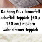 Kaihong faux sheepskin sheepskin rug (50 x 150cm) modern living room carpet fluffy long hair ...