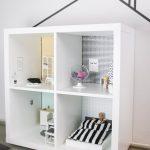 Kallax Ideen für das Kinderzimmer: DIY mit den Limmaland Klebefolien #dollhouse...