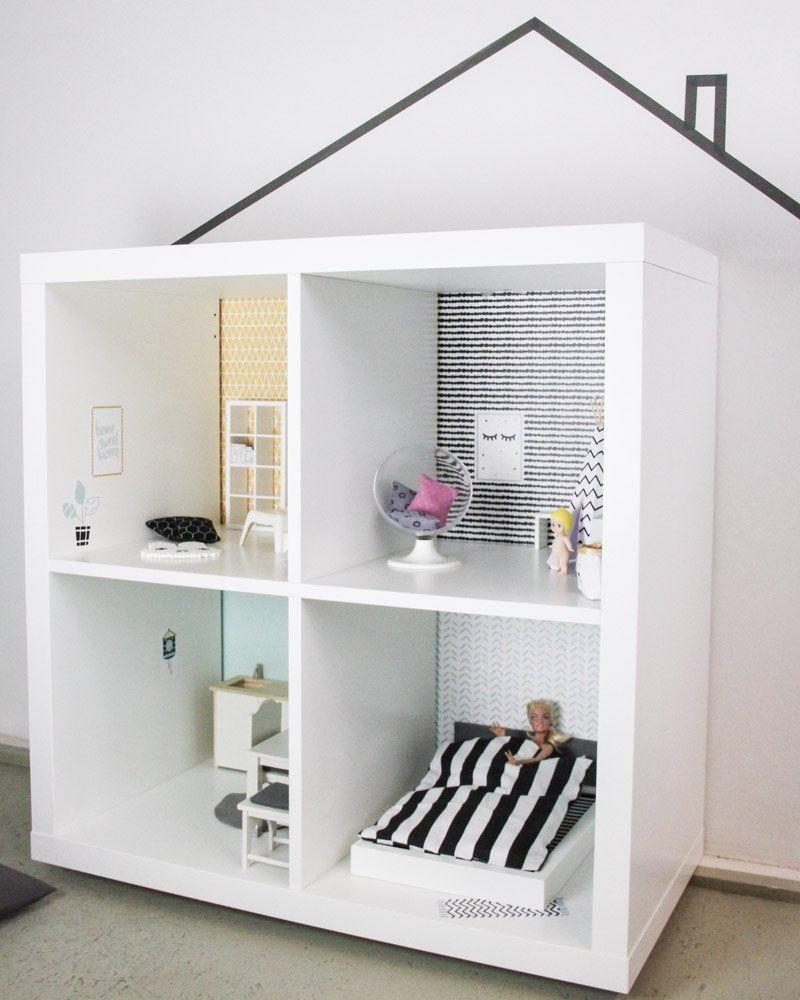 Kallax Ideen für das Kinderzimmer: DIY mit den Limmaland Klebefolien #dollhouse…