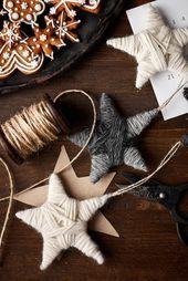 Kieputettu lankatähti – #kieputettu #lankatahti – #decoration – Christmas -…