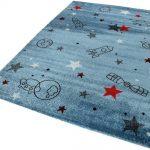 Kinder-Teppich , blau, eckig, 133x200cm, »Yoda«, Esprit