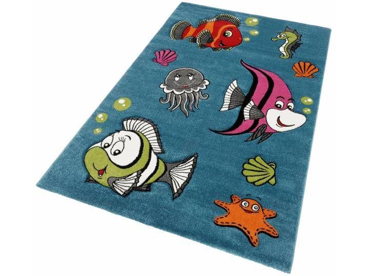 Kinder-Teppich , blau, eckig, 80x150cm, »GERS«, merinos