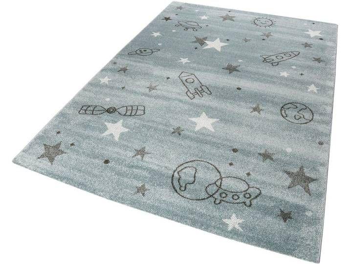 Kinder-Teppich , grau, eckig, 80x150cm, »Yoda«, Esprit