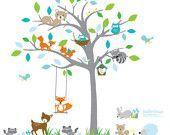 Kinder Wandtattoos, Kinderzimmer Wandtattoos, Baum Wandtattoos, Baby Wandtattoos…
