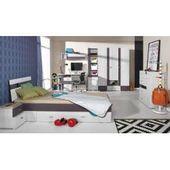Kinderbett / Jugendbett Sprimont 13 Farbe: Grau / Eiche  90 x 200 cm (B x L) Ste…