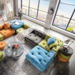 Kindersofa BIG CUSHION, Sofa Eck Element L, 80x80cm   Dannenfelser Kindermöbel