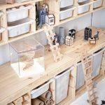 Kinderzimmer eingerichtet u. a. mit TROFAST Aufbewahrung mit Boxen Kiefer/wei&#2...