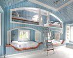 Kingsize-Bett und zwei Einzelbetten in einem Raum  Google-Suche#design #model #d...