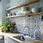 Kitchen splash back tiles. Eclectic style in a kitchen #kitchendesign