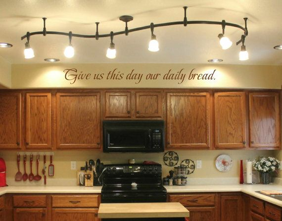 Kitchen wall decal – wall vinyls decals art – Give us this day our daily bread wall decal – Vinyl Wall Decal