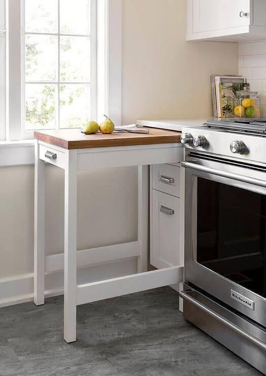 Kleine Küchendekoridee mit praktischem Tisch, 30 schicke kleine Küc … – bingefashion.com/interior
