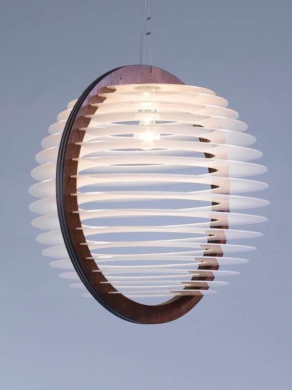Kostenloser Versand, ein mediums Wohnzimmer Beleuchtung, Anhänger Beleuchtung, Pendelleuchte, Leuchte, Holz und Plexiwert Anhänger Licht, Home Decor