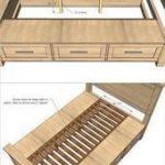 Kreative Ideen  wie man ein Bauernhaus-Speicherbett mit Fächern errichtet   D