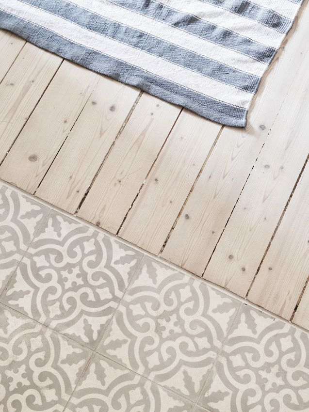 Küchen-Fußboden Holz und Fliesen – #Fliesen #Holz #KüchenFußboden #schicke #… – https://bingefashion.com/haus