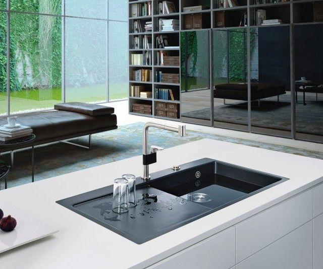 Küchen Spüle, Granitspüle, Edelstahl, Spülbecken, Küche, Keramik, Spüle sc…