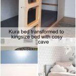 Kura-Bett in Kingsize-Bett mit gemütlicher Höhle verwandelt,  #gemütlicher #Höhle #KingsizeBe...