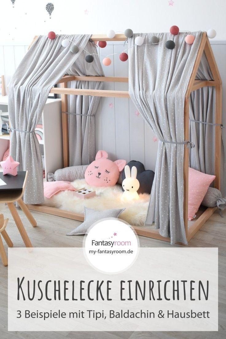 Kuschelecke im Kinderzimmer schön einrichten: Beispiele mit Tipizelten, Baldach… – DIY Ideen – bingefashion.com/interior