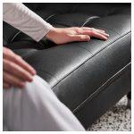 LANDSKRONA 4er-Sofa - mit Récamiere Grann, Bomstad Grann/Bomstad schwarz/Metall - IKEA